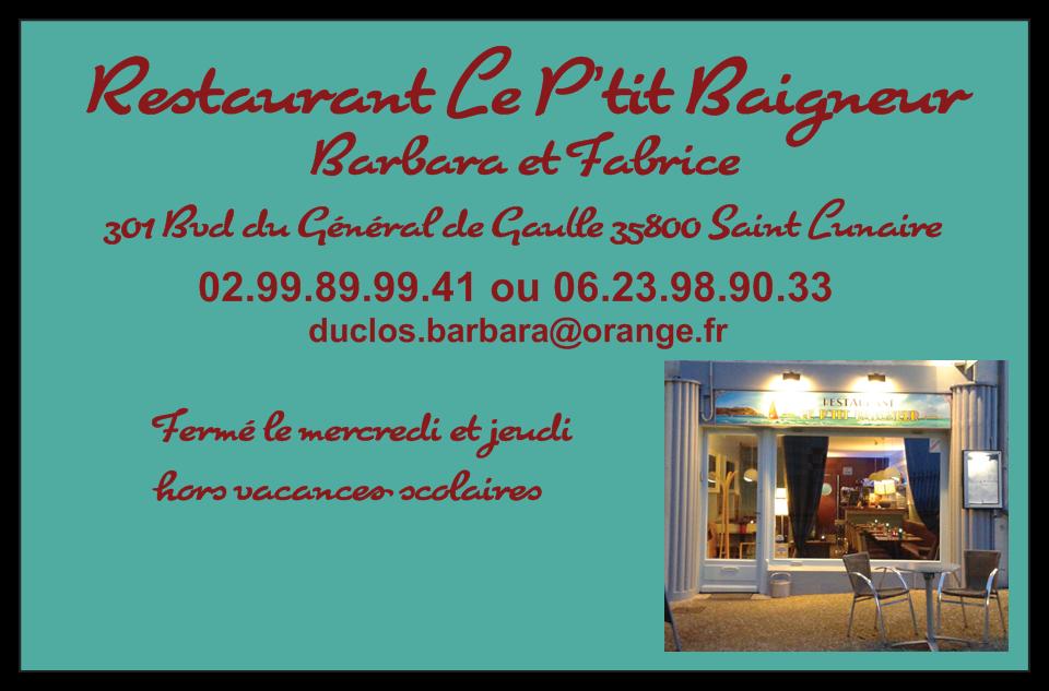 Le P'tit Baigneur Saint-Lunaire - Adresse