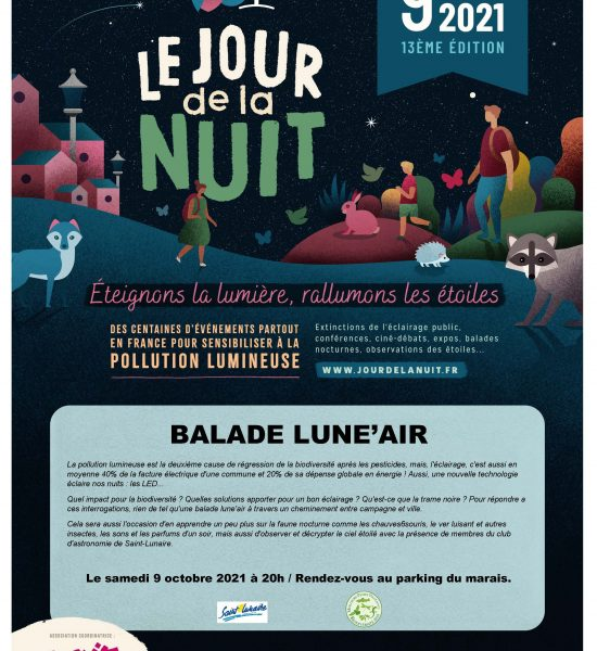 Affiche Balade Luneair Manifestation à Saint Lunaire